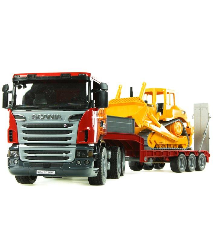 Scania R z naczepą i buldożerem Bruder 03555
