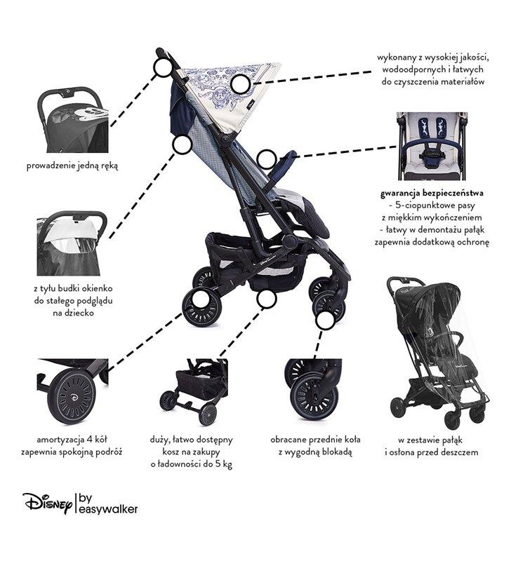 Wózek spacerowy Disney Buggy XS Mickey Ornament Easywalker DX10001