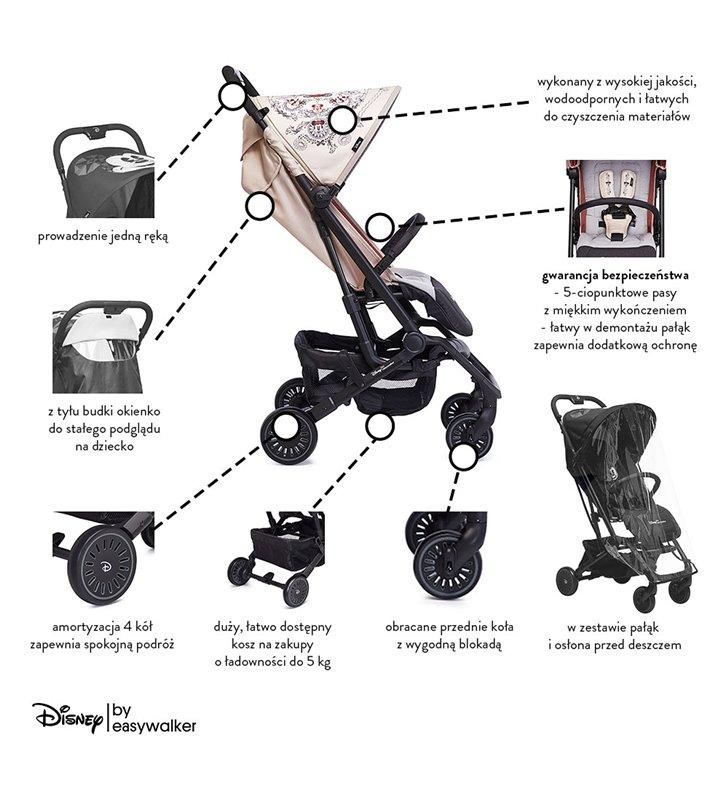 Wózek spacerowy Disney Buggy XS Minnie Ornament Easywalker DX10002