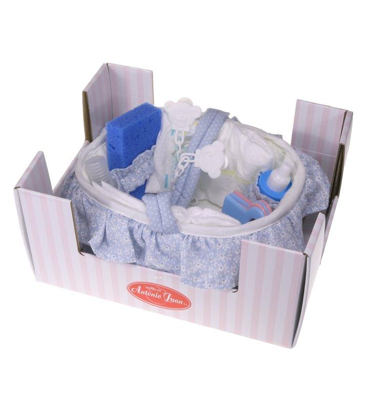 Niebieski koszyczek dla lalki Antonio Juan 0143A