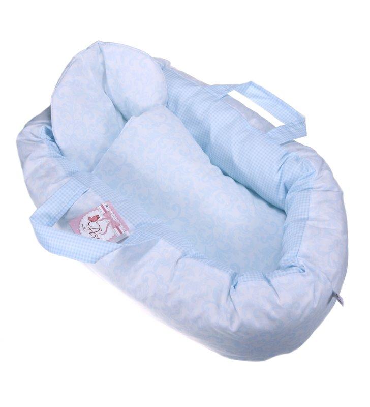 Duże niebieskie nosidełko dla lalki Asi 3999014