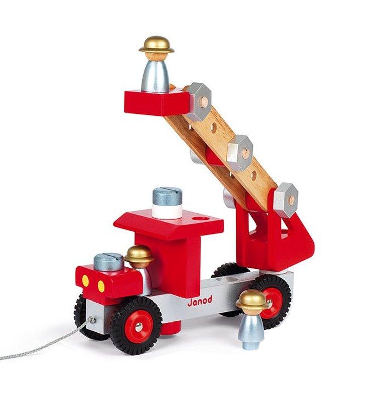 Drewniany wóz strażacki Janod 06498